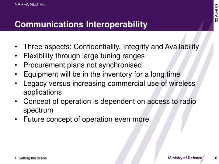 Communications Interoperability