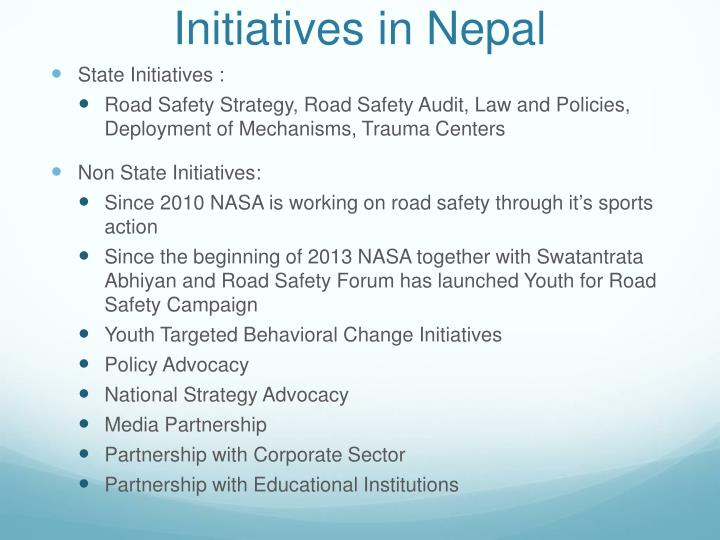 Initiatives in Nepal