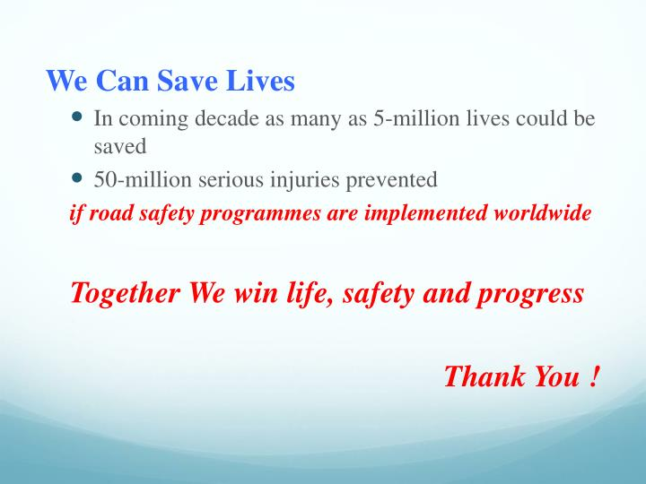 We Can Save Lives