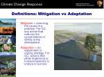 definitions mitigation vs adaptation