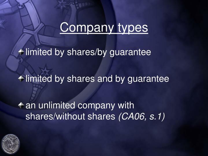 Company types