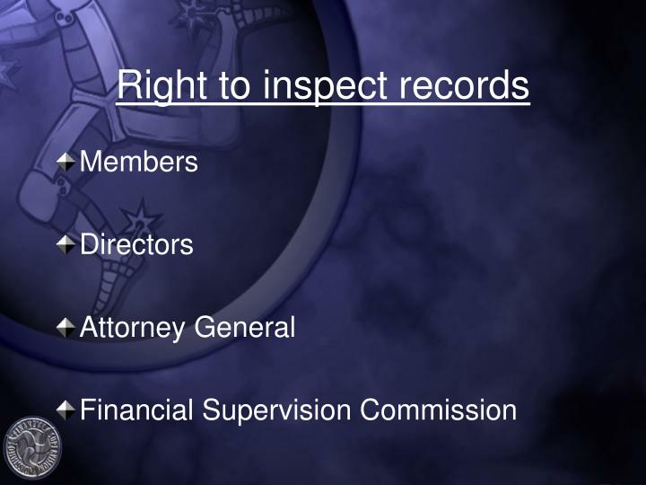 Right to inspect records