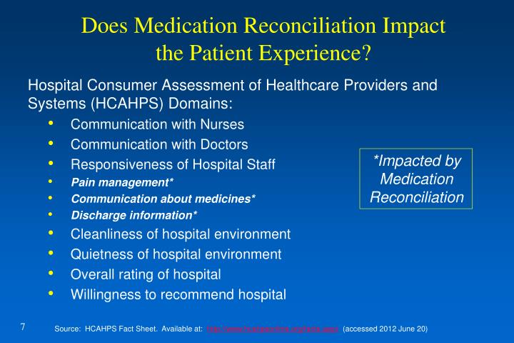 Does Medication Reconciliation Impact