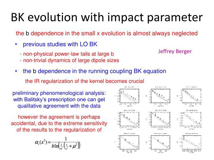 BK evolution with impact parameter