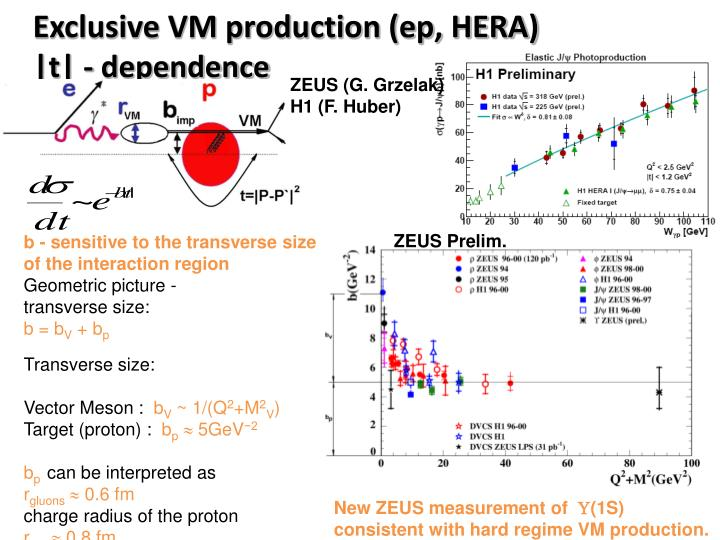 Exclusive VM production (ep, HERA)