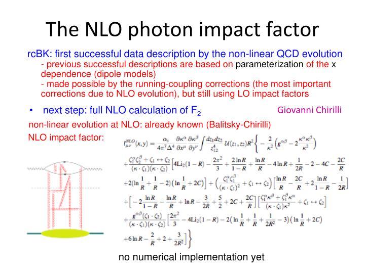 The NLO photon impact factor