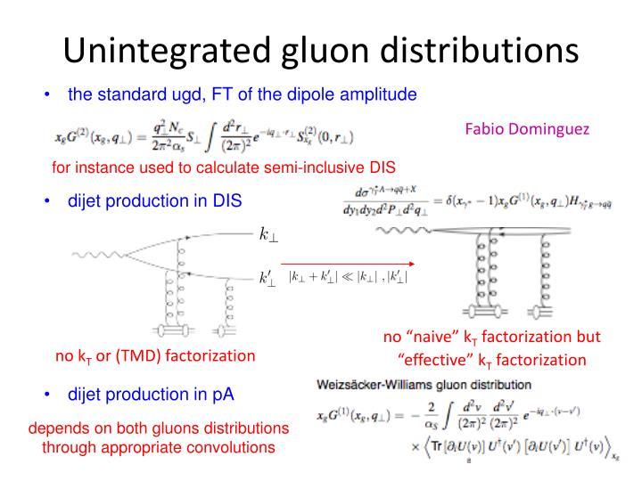 Unintegrated gluon distributions