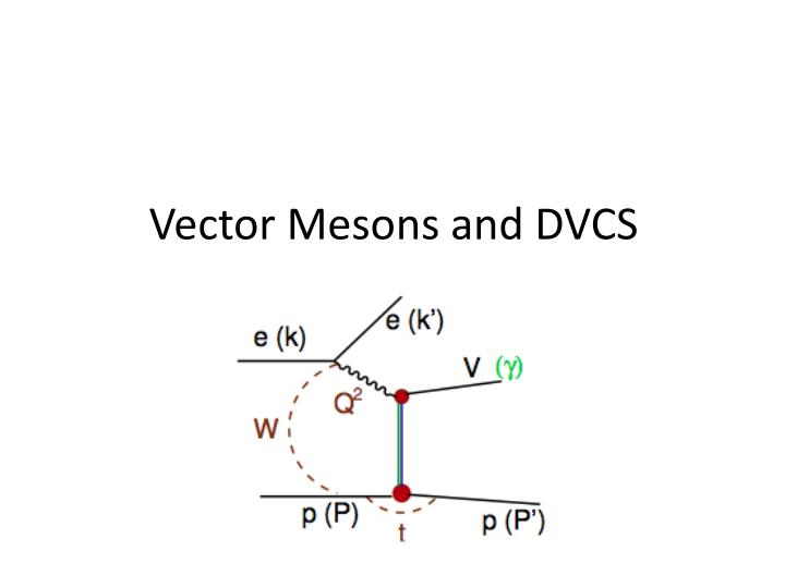 Vector Mesons and DVCS