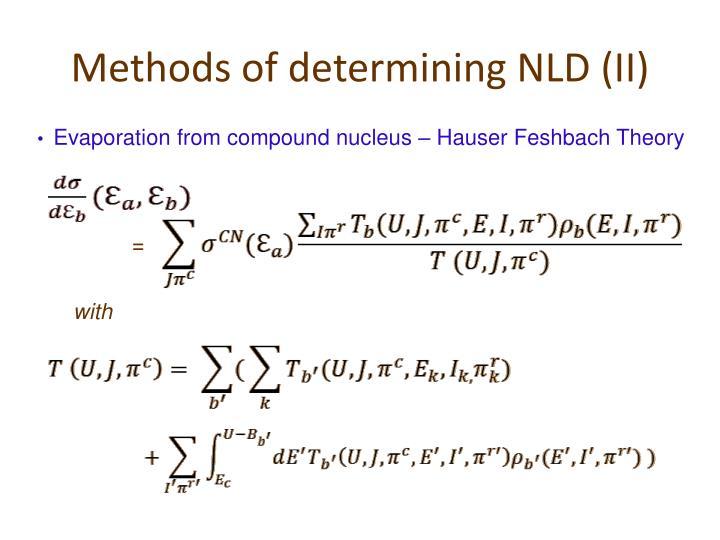 Methods of determining NLD (II)