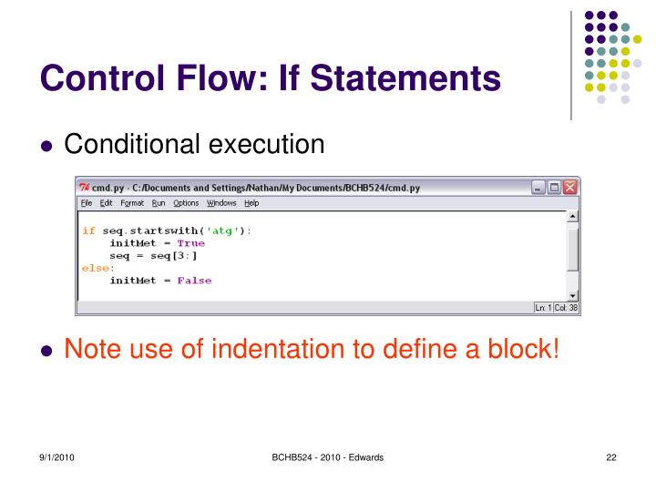 Control Flow: If Statements