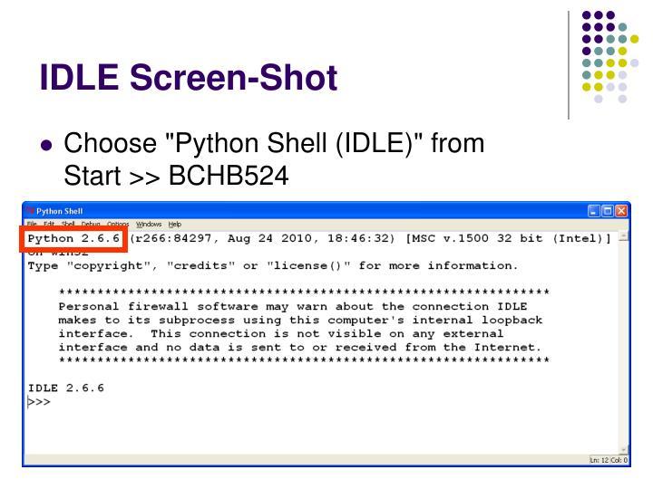 IDLE Screen-Shot