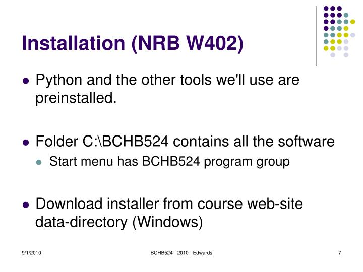 Installation (NRB W402)