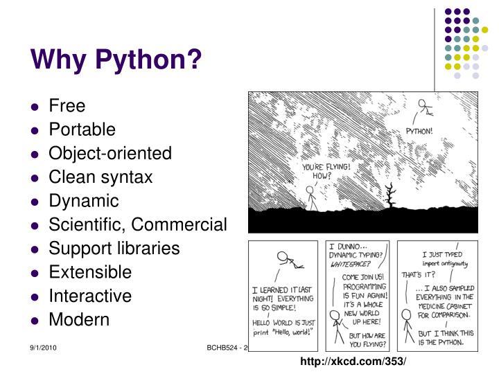 Why python