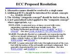 ecc proposed resolution