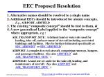 eec proposed resolution