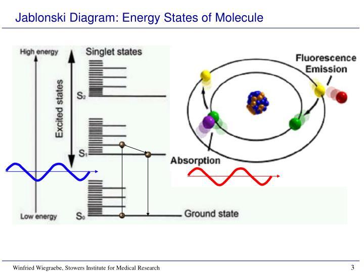Jablonski diagram energy states of molecule