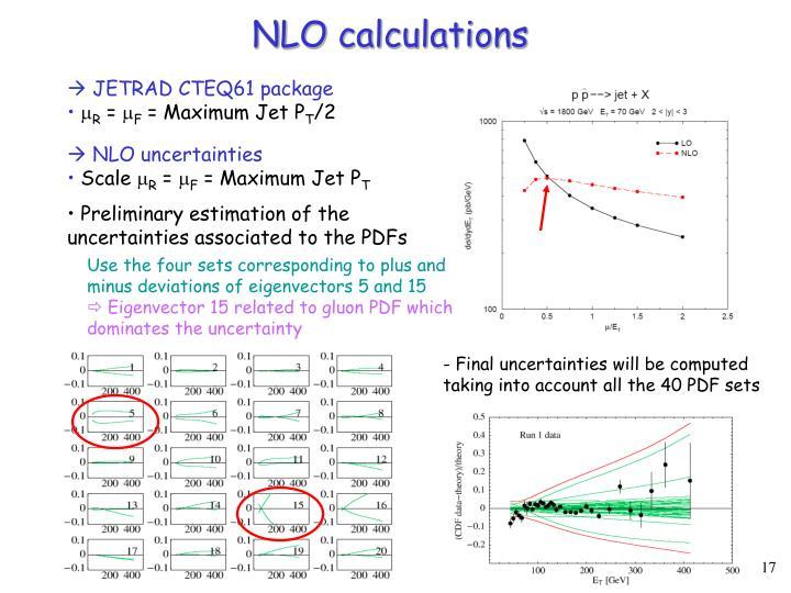 NLO calculations