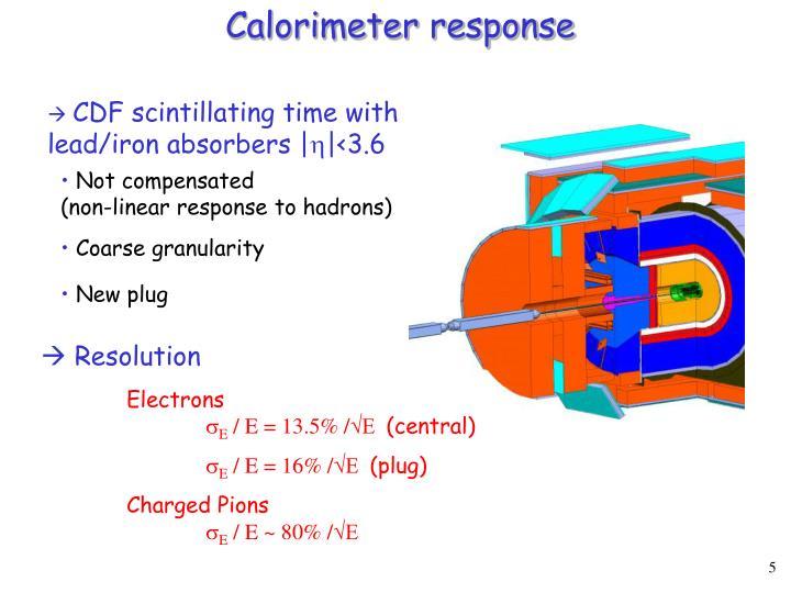 Calorimeter response