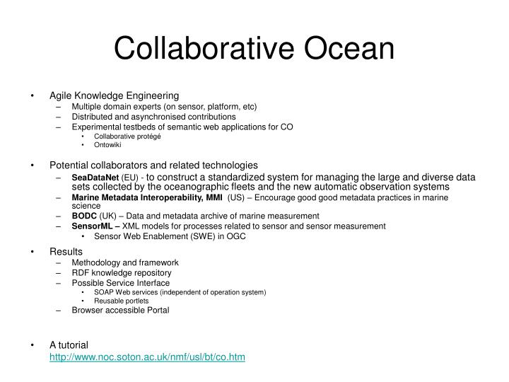 Collaborative Ocean