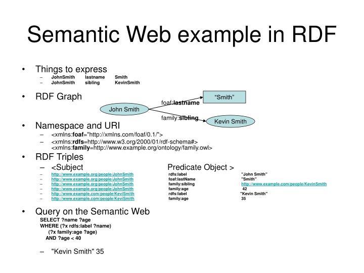 Semantic Web example in RDF