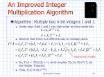 an improved integer multiplication algorithm