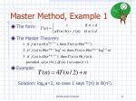 master method example 1