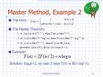 master method example 2