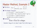 master method example 3
