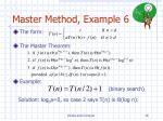 master method example 6