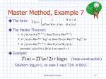master method example 7