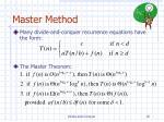 master method