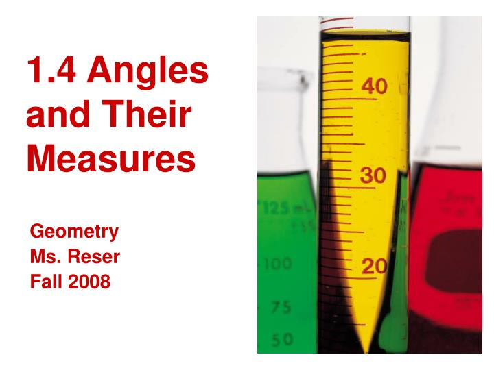 1 4 angles and their measures n.