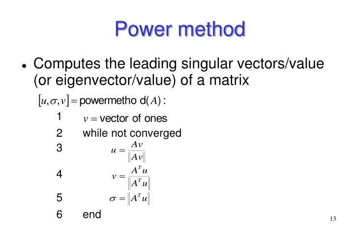 Power method
