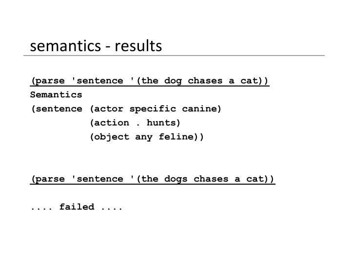 semantics - results