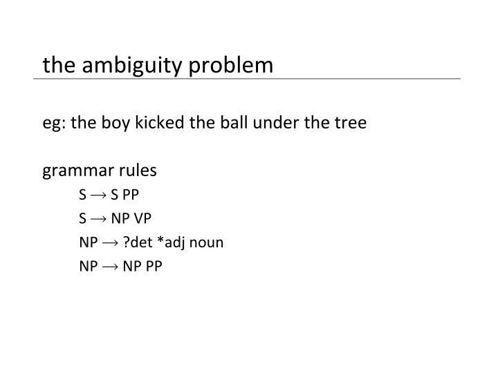 the ambiguity problem