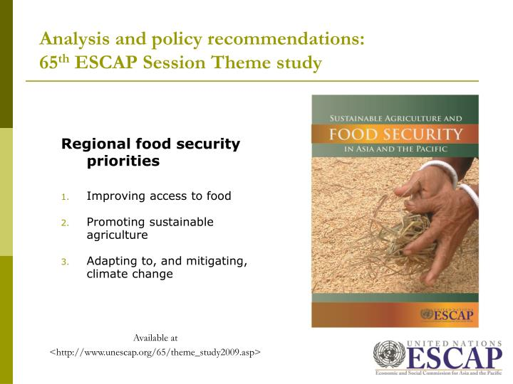 Analysis and policy recommendations: