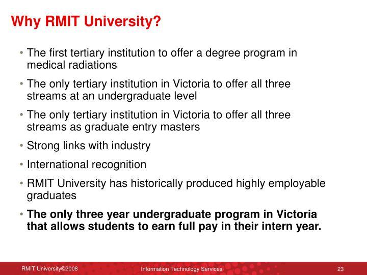 Why RMIT University?