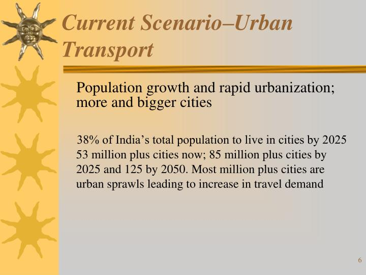Current Scenario–Urban Transport