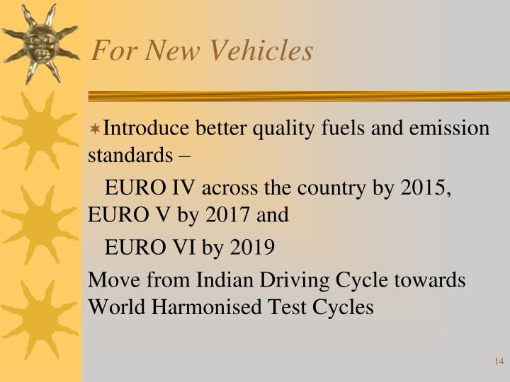 For New Vehicles