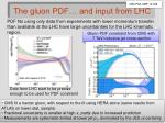 the gluon pdf and input from lhc1