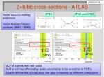 z b bb cross sections atlas2