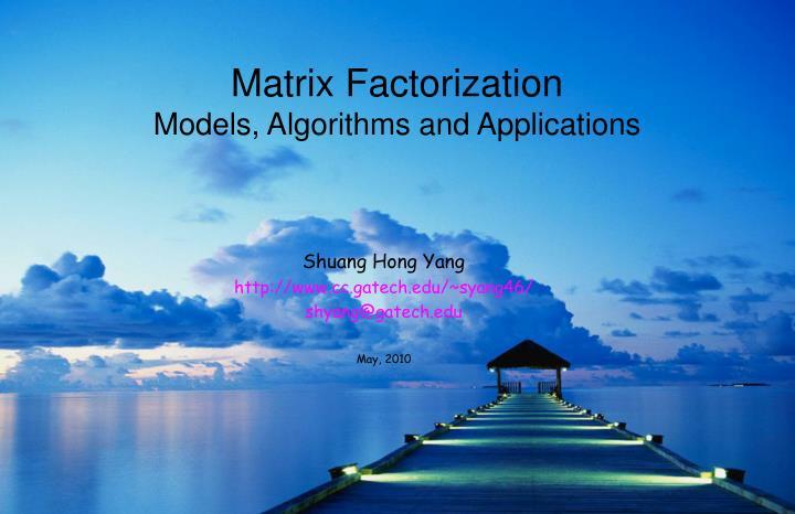Matrix Factorization