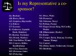 is my representative a co sponsor