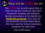 what will the care act do