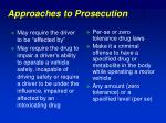 approaches to prosecution