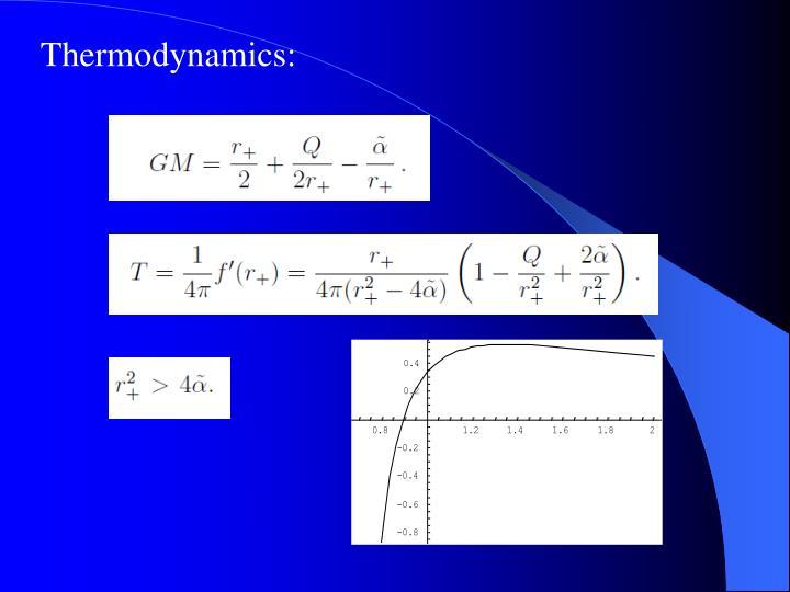 Thermodynamics: