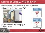 source of supply ats and atp