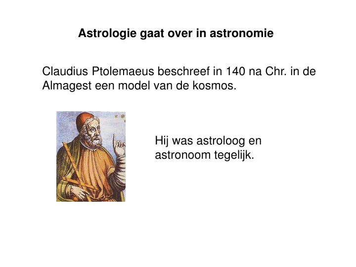 Astrologie gaat over in astronomie