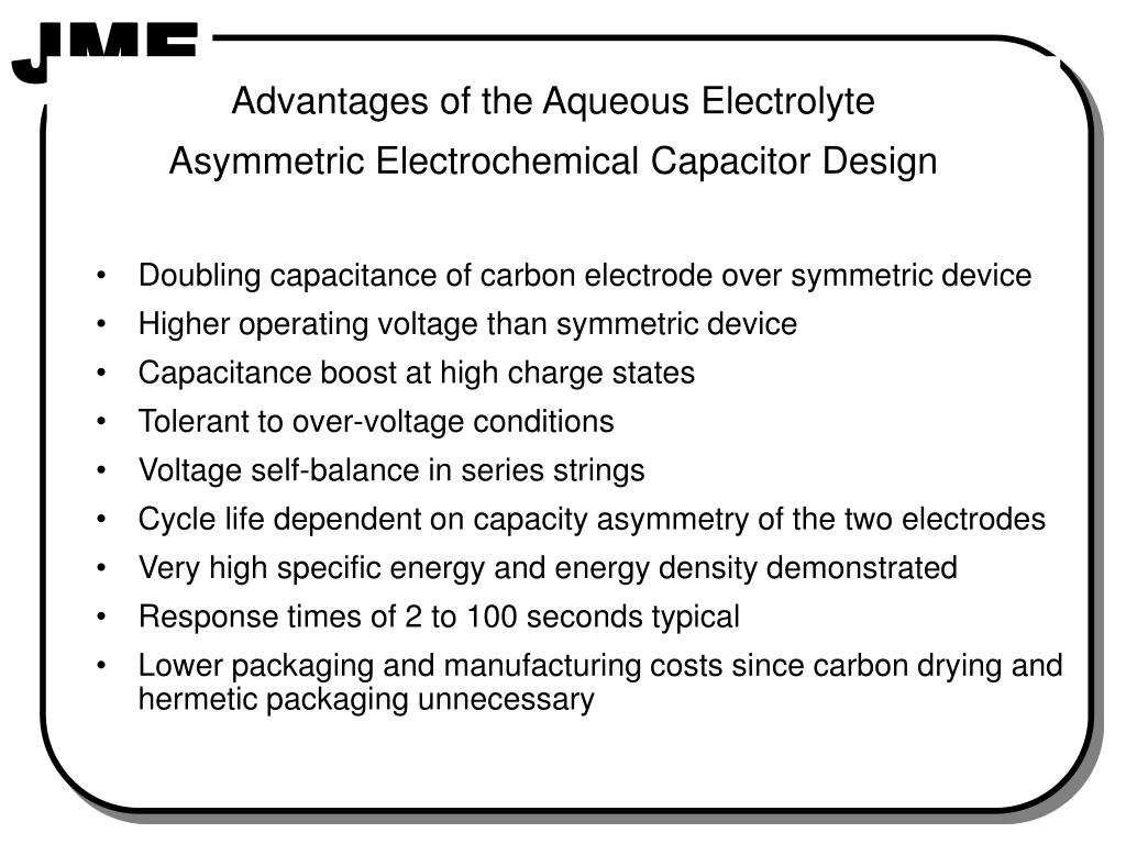 PPT - ELECTROCHEMICAL CAPACITORS (ECs): Technology, Applications