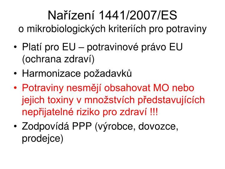Nařízení 1441/2007/ES